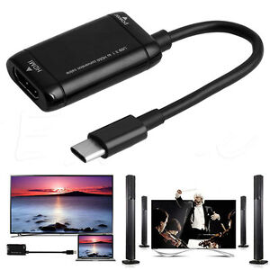 USB-C-Type-C-to-HDMI-Adapter-USB-3-1-Cable-For-MHL-Android-Phone-Tablet-Black