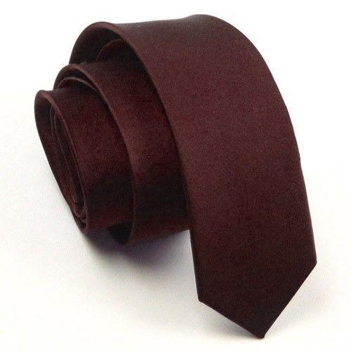 Classic Skinny Men/'s Slim Tie Solid Color Plain Silk Jacquard Woven Necktie 5cm