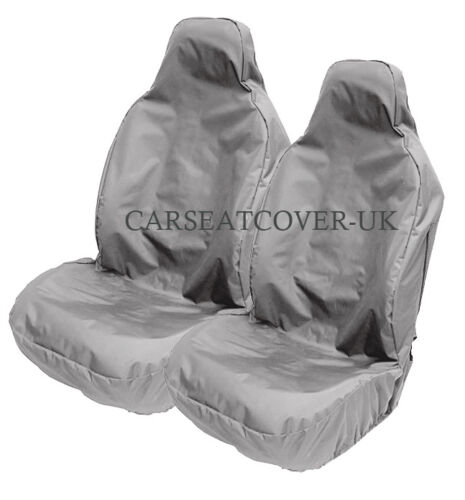 2 x Fronts SMART Fortwo Coupe Heavy Duty Grey Waterproof Car Seat Covers