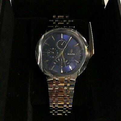 709f9454a Bulova 98C132 Men's 42mm Two Tone Retrograde Dress Watch for sale ...