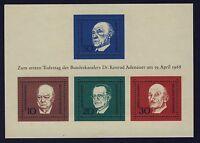 BUND Block 4** postfrisch Adenauer Churchill De Gasperi Schuman 1968