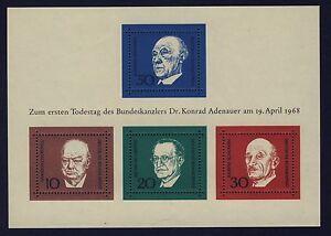 BUND-Block-4-postfrisch-Adenauer-Churchill-De-Gasperi-Schuman-1968