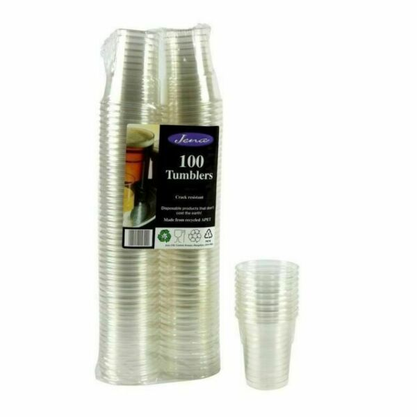 Wedding Party 50 Strong Disposable 1 Pint Tumblers Glasses 64cl By Jena BBQ