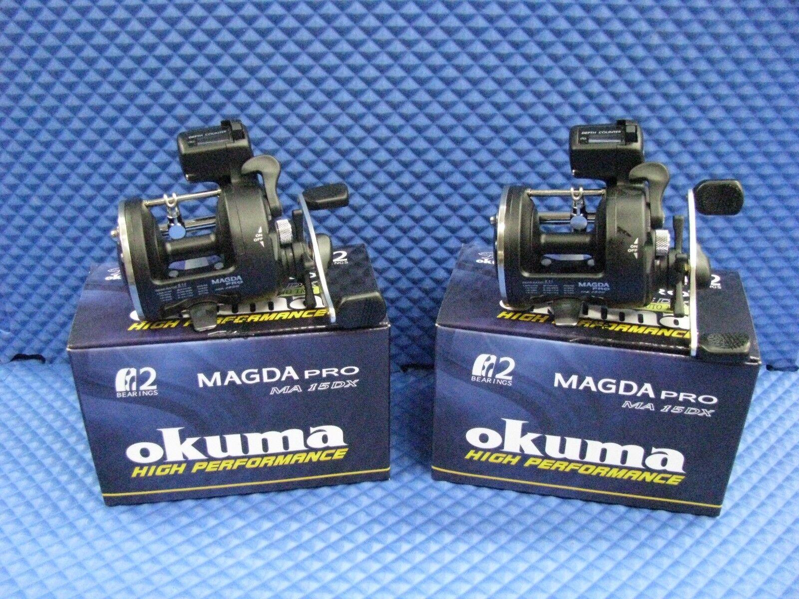 Okuma MAGDA PRO MA 15DX Contador de línea Trolling Cocherete 2 Pack