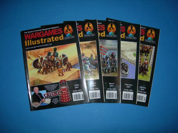 Focoso Multi-listing Wargames Illustrated Magazine 2007-questioni 232 A 236 Perfetto Nella Lavorazione