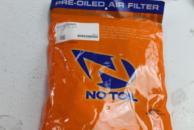 No Toil Pre-Oiled Air Filter 160308 Kawasaki Prarie 650//700 2003-2006 3410
