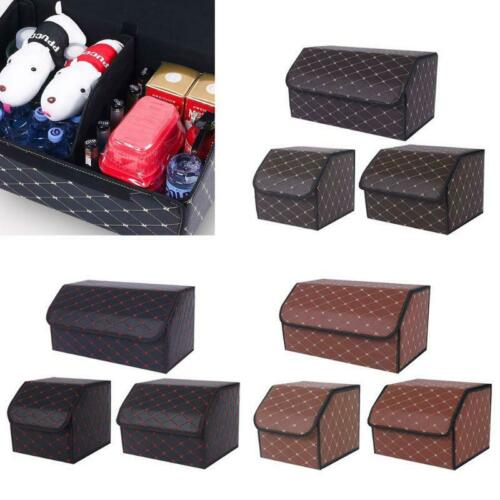 Car Trunk Storage Box Bag Organizer Tools Accessories Management PU Leather r