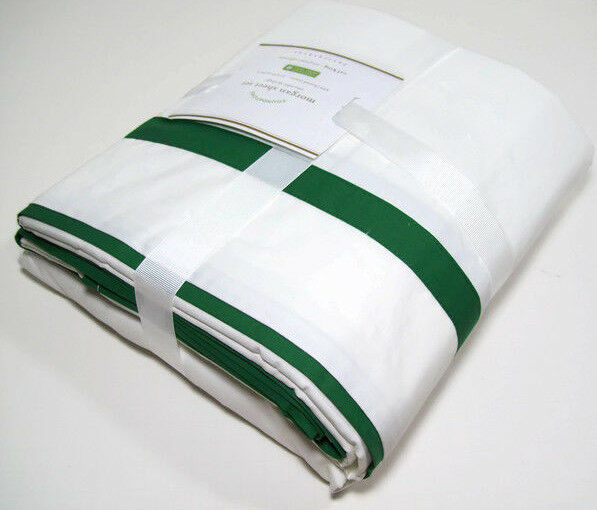 Pottery Barn 400 Thread Count Emerald Green Morgan Stripe Cal King Sheet Set New