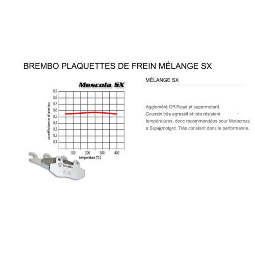 Plaquettes Brembo Frein Arriere SX pour Suzuki DRZ SM 400 2005 /> 2007