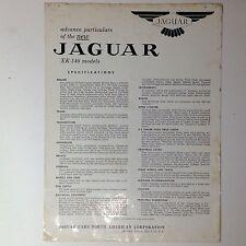 ✇ Original Jaguar XK-140 Technikprospekt technical brochure 50er-Jahre