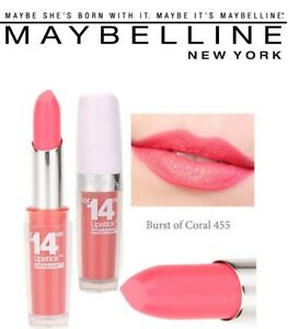 Details about Maybelline New York Super Stay 14 Hour Lipstick 455 Burst Of Coral