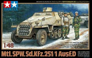 Image is loading Tamiya-32564-1-48-Model-Kit-German-Half-