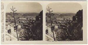 Nice-Panorama-Photo-Stereo-Stereoview-Papier-Argentique-Vintage