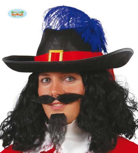 GUIRCA Cappello moschettiere accessori halloween carnevale adulto mod 13544