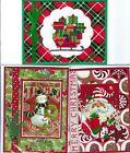 Handmade CROSS STITCH  and REGULAR CHRISTMAS CARDS #CX-AA--Lot of 3