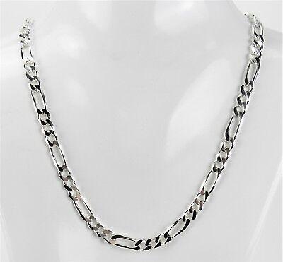 """16/""""//18/"""" massiv 925 Sterling Silber Kette Königskette Halskette Figarokette"""