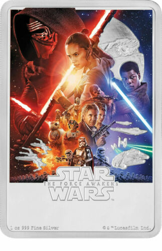 1 OZ 2019 STAR WARS The The Force Awakens POSTER COIN SILVER