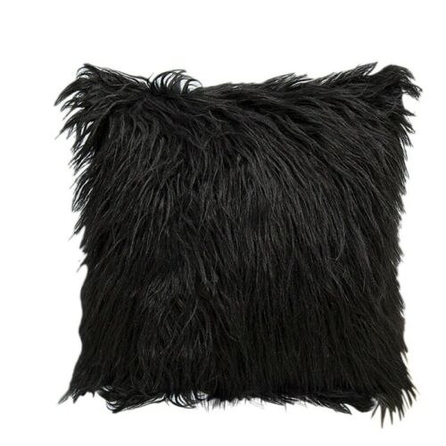 Throw Pillow Cases Cushion Cover Soft Square Fluffy Plush Waist Home Room Decors