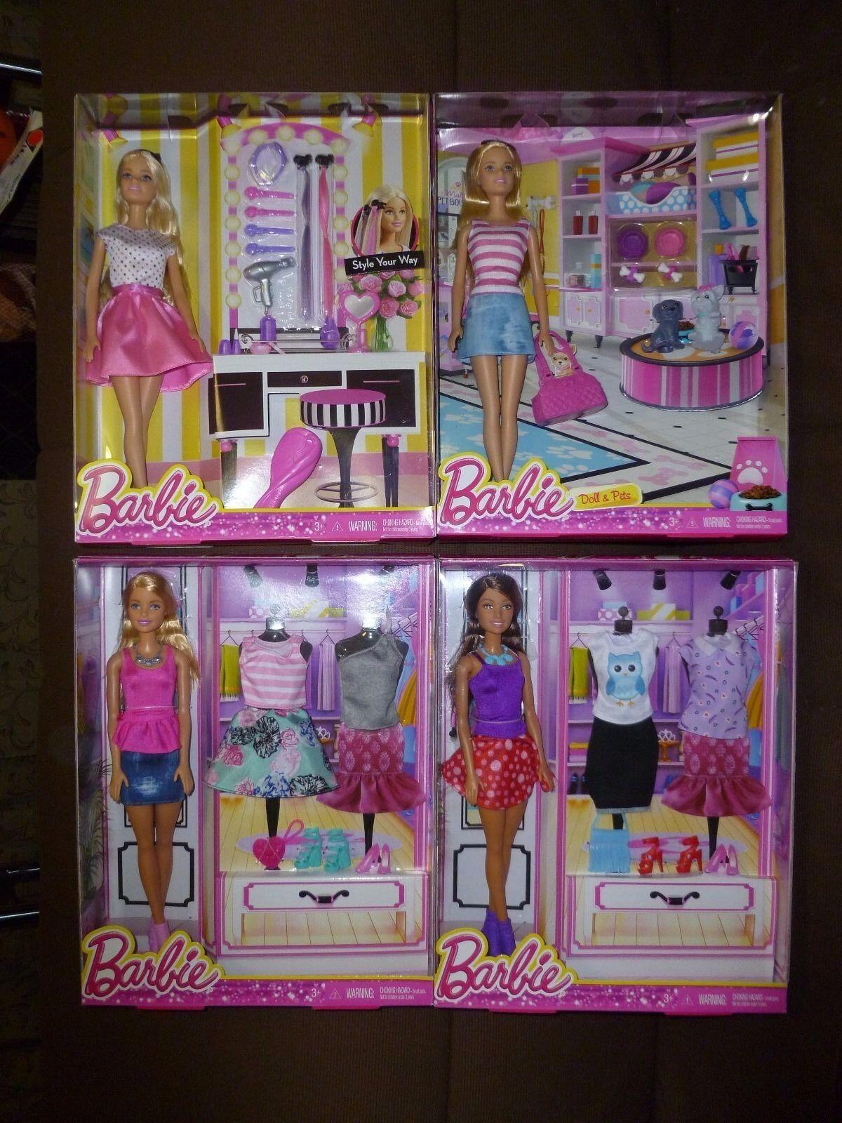 Muñecas Barbie Mascota & Juego De Accesorios De Moda Colección Limited Edition