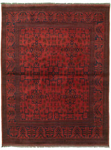 Hand-knotted-Carpet-4-039-9-034-x-6-039-6-034-Traditional-Vintage-Wool-Rug