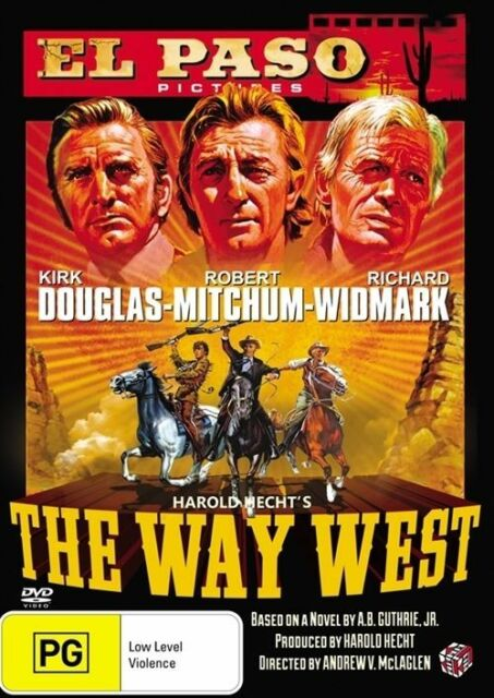 The Way West Kirk Douglas Robert Mitchum Richard Widmark Region 4 DVD VGC