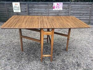 DROP-LEAF-TABLE-TEAK-RETRO-FORMICA-TOPPED-1960s-GREAT-CONDITION