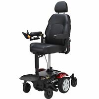 Power Wheelchair With Elevating Seat, Merits P326d, 300 Lb Cap, Mid-wheel Drive