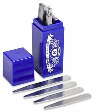 36 Metal Collar Stays in a Beautiful Sapphire Box- 4 Sizes