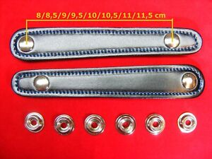 2 Stück für Balgzughalter Länge 9,5 cm Balgriemen//accordion bellows straps.!