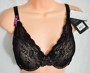 women-039-s-APT-9-lace-plunge-demi-black-bra-size-36D-msp-34