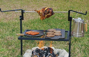 Rotisserie Grill Outdoor Campfire Cooking Camping Equipment Kitchen Patio