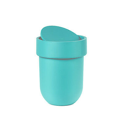 Umbra Touch Waste Can with Lid - Surf Blue
