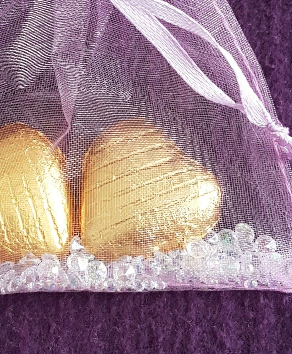 50 wedding party favours hen  baby shower gifts.Foiled Chocolate Chocolate Chocolate hearts organza 2cb227