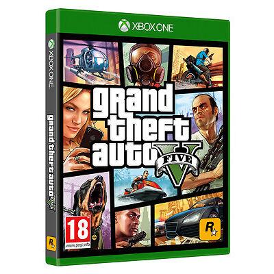 GRAND THEFT AUTO V (GTA V) XBOX ONE GAME BRAND NEW SEALED OFFICIAL PAL
