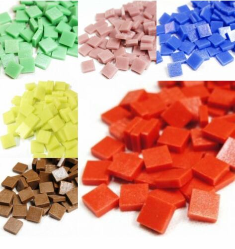 12mm Matte Mosaic tiles for arts and crafts Various Colours