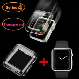 For Apple Watch Series 4 40 44mm Film Tempered Glass Screen Protector Clear Case Ebay