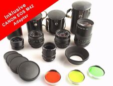 CANON EOS M42 Objektiv SET Pentacon Objektiv / Festbrennweite / Prime lens M42 #