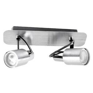 EGLO-88378-lampe-metal-x-le-plafond-2-spots-9W-modele-Sines-220V-neuf