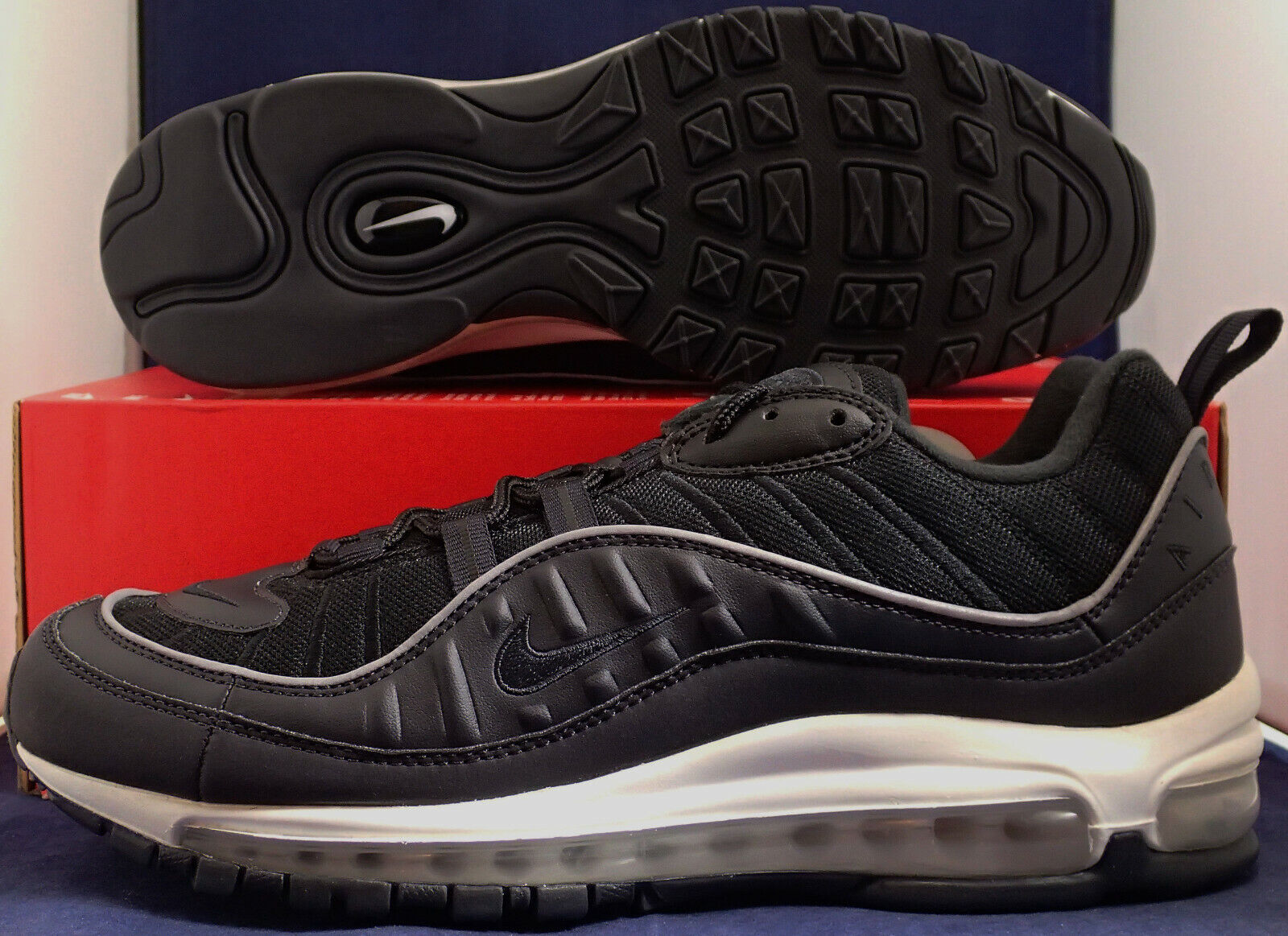 Nike Air Max 98 Oil Grey Black SZ 12 ( 640744-009 )