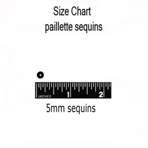 5mm Cup SEQUIN FACET PAILLETTES ~ Premium COPPER Metallic ~ Made in USA