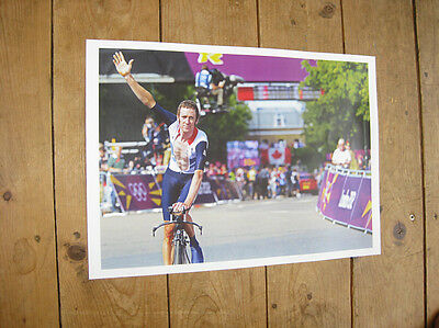 Analytical Bradley Wiggins Olympic Cycling Winner Poster London 2012 Sports Memorabilia