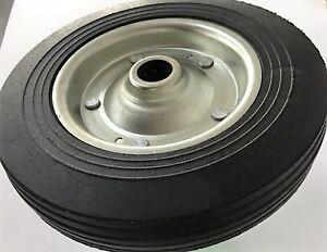 "Steel Centre Super Strong Black Rubber Tyre Wheel (250MM/10"")"
