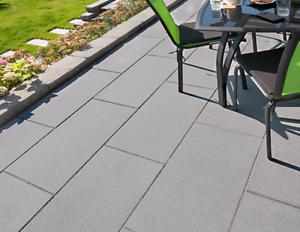 Kann Terrassenplatten Vios Platten Kugelgestrahlt In Grau Und
