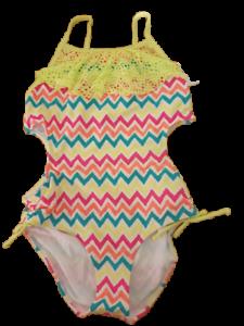Girls Swimming Costume Swimsuit Swimwear Various Sizes Cutout Design