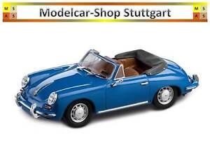 Porsche 356 C Cabriolet 1963 Emailleblau Édition Limitée Spark 1:43 Wap0205500h