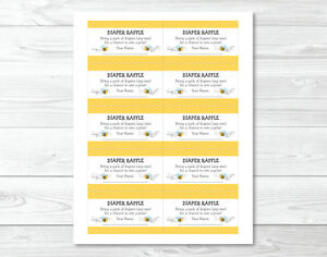 Image Is Loading Sweet Little Bumble Bee Printable Baby Shower Diaper