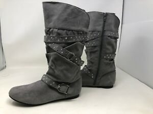 New Girl/'s Youth Canyon River Blues Slouch Boots Gray 66391 Patrica 67W