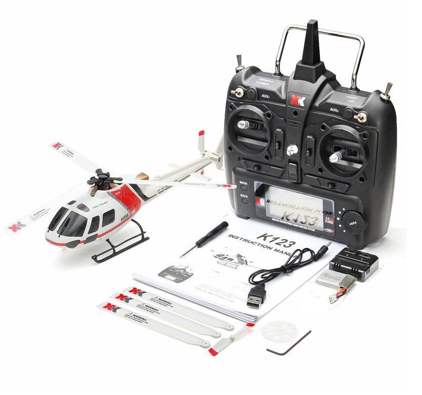 XK K123 6CH sin escobillas AS350 escala 3D6G Drone RTF actualizar WLtoys V931 Cuadricóptero