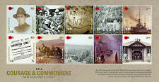 New Zealand NZ 2016 MNH WWI 1916 Courage & Commitment 10v M/S World War I Stamps