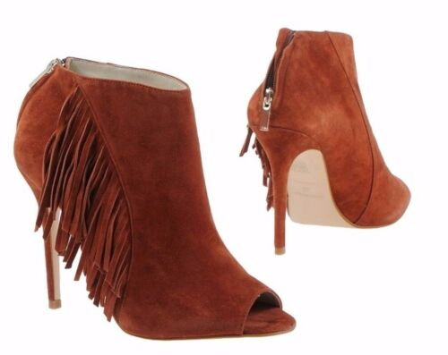 Ankle Boots Karen Fx048 3 Fringe amp; Leather Tan 4 Stiletto Millen Shoes qxF410